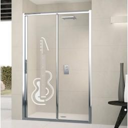 Déco adhésive pour douche guitare