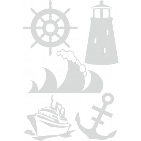 Stickers pour vitres kit marin