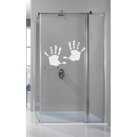 Stickers décoratifs douche mains