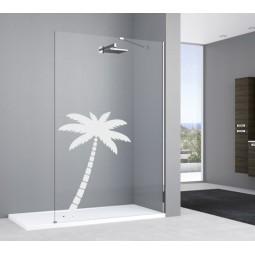 Sticker vitre douche palmier