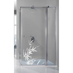 Autocollant de douche feuillage
