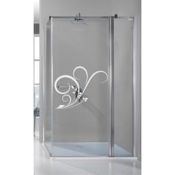 Décoration adhésive vitre volutes design