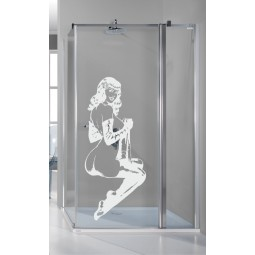 Sticker salle de bain pin up