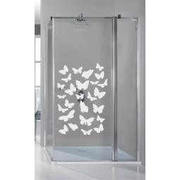 Décoration paroi douche papillons