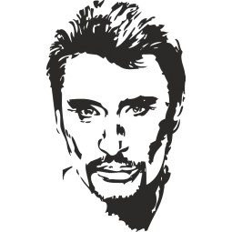 Sticker mural Johnny Hallyday