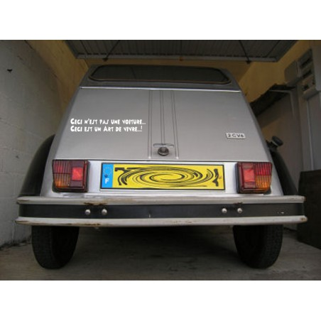 sticker slogan 2cv