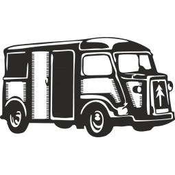 sticker adhésif célèbre Citroën Tube