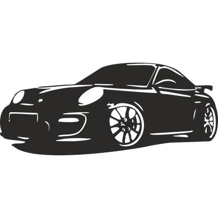 Sticker auto Porsche 911