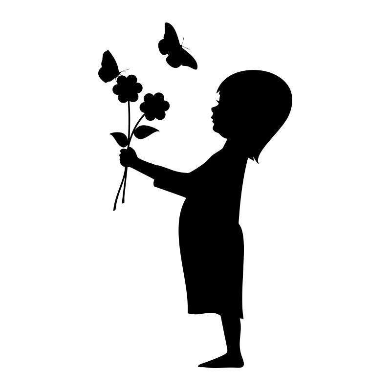 sticker déco enfant et papillons