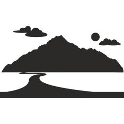 Déco adhésive paysage montagne