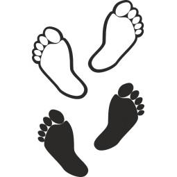 sticker humoristique doigts de pieds