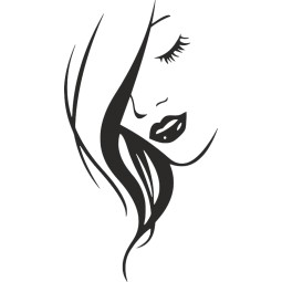 sticker visage de femme