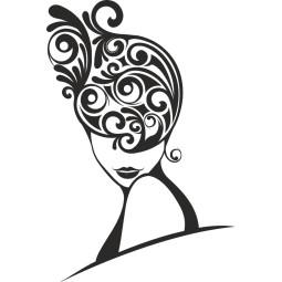Déco murale autocollant hair style