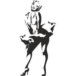 Déco adhésive Marilyn