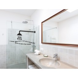 sticker mural pour la douche