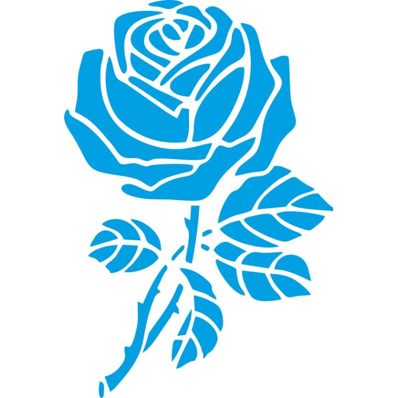 Autocollant la rose