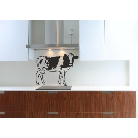 sticker vache normande