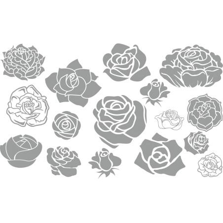Décoration murale adhésive les roses