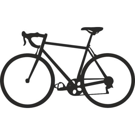 Déco murale adhésive le vélo de course