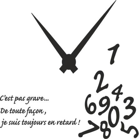 sticker l'horloge en vrac