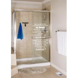 sticker règles de la salle de bain