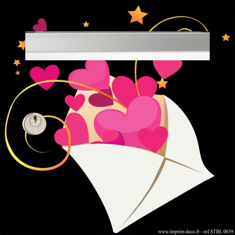 sticker boîte aux lettres lettre d'amour